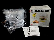 Kalorik DG 33761 3-Tier Food Cooker / Steamer, White ~ New (Open Box)