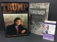 DONALD TRUMP SIGNED AUTOGRAPH THE ART OF THE DEAL 1ST EDITION BOOK 1987 JSA COA