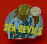 Danbury Mint Enamel Pin Badge BBC TV Doctor Who Dr Who Sea Devils Character