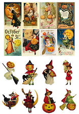 "Decoupage Paper [10sh A4 /8""x12""] Halloween FLONZ 013 Vintage Craft Scrapbooking"