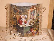 Tischlicht/Windlicht - Weihnachtsmann mit Wunschzettel - Weihnachten/Winter