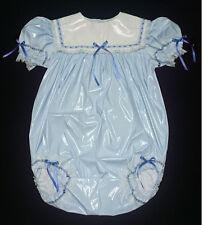 ADULT SISSY BABY GIRL BABY BLUE PVC ROMPER NIGHT SLEEPER
