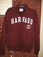 "Champion Harvard 1/4 zip pullover M mens sweatshirt 44"" Chest  crimson"