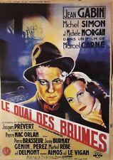 Poster Cinéma Jean GABIN Michèle MORGAN Le quai des brumes 29 x 40 cm