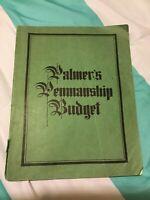 RARE-Vintage Palmer's Penmanship Budget -Anniversary edition-Paperback 1937