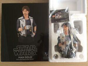 Gentle Giant Star Wars RARE Han Solo (Corellia) 1:6 Scale Mini Bust Statue DST