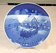 Jule Aften Christmas Eve 1969 Bing Grondahl B&G Christmas Plate Cobalt Blue