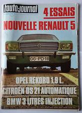 l'auto-journal 1 1972 LIGIER JS2 DASTUN 240Z RENAULT 12 MONTE CARLO ALGER LE CAP