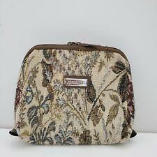 Jordache Floral Tapestry Bag Brown