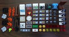 NEW LEGO Specialty HTF Parts Lot Decorated Tiles Slopes Gauges Accessories 71pcs