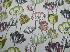 Designers Guild Fabric 'VARIEGATED TULIPS - BUTTERMILK' 2 METRES 100% Cotton