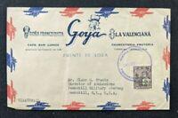 1946 Caracas Venezuela Advertising Airmail Cover to Peekskill NY USA Overprint