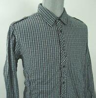 Men's 2XL Guess Plaid Long Sleeve Shirt NWT