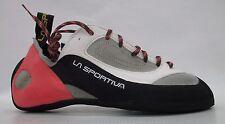 La Sportiva Womens Finale Climbing Shoes 10W Grey/Coral Size 41.5