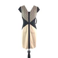 NEW LONDON TIMES Women's Size 4 Petite Sleeveless Animal Print Sheath Dress
