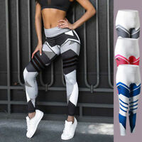 1x Women Yoga Pants Fitness Leggings Running Gym Exercise Sports Floral Trousers