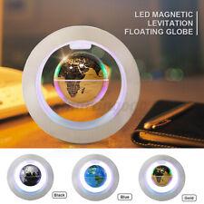 O Shape Magnetic Floating Rotating Globe Levitation LED World Map Home Decor