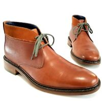 Cole Haan Colton Chukka Boots Brown Pebbled Leather Suede Men's Shoes Size 9 M