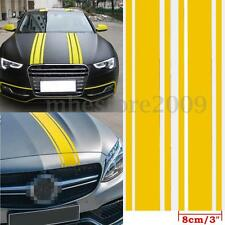 72″x3″ Yellow Car Vinyl Racing Body Stripe Pinstripe Side Hood Decals Stickers