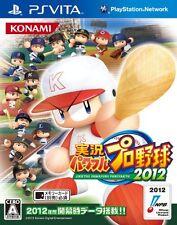 Used PS Vita Jikkyou Powerful Pro Baseball 2012 Japan Import (Free Shipping)