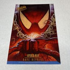 "Fleer Ultra Spider Man UltraPrints Spider-Man Dave Devries 1995 10""x6 1/2"""