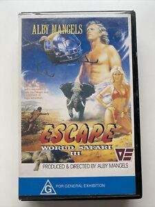 Alby Mangels World Safari 3 Escape Vhs Video Rare Tape Animal Adventure Big Box