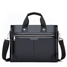 Men Leather Shoulder Business Bag Messenger Document Laptop Formal Briefcase Bag