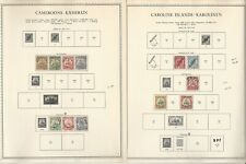 German Colonies Stamp Collection on 12 Minkus specialty Pages, DKZ