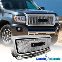 For 2015-2018 GMC Canyon Front Bumper Hood Grille Silver Coated Grill Pickup