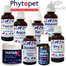 Phytopet Full Range of Natural Herbal & Homeopathic Remedies Dog Cat & Whelping