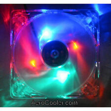 EverCool CLB-12025-4LD1 120x25mm Mixed Color (B,G,R,O) LED Case Fan