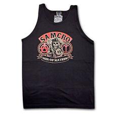 Auténtico Sons Of Anarchy Men Of Mayhem Samcro Camiseta de Tirantes Soa