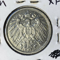 1903-A Germany 1 Mark Silver Coin XF/AU Condition