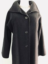 New MAX MARA Italy, Black,100% Wool , Long COAT, size 2  /M/
