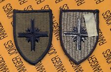 US Army Puerto Rico State / National Guard OD Green & Black patch m/e Type III