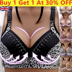 Women's Wireless Bras Padded Sport Vest Pushs Cami Yoga Buckle Front Bra-Support