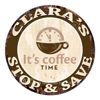 CWSS-0144 CLARA'S STOP&SAVE Coffee Sign Birthday Mother's Day Gift Ideas