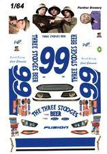 #99 Carl Edwards 3 Stooges Beer 1/64th Scale Waterslide Decals
