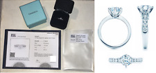 RRP £23,000 TIFFANY & CO 1.45CT DIAMOND & PLATINUM ENGAGEMENT RING WITH WEDDING