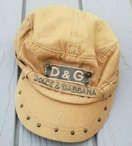 Dolce Gabbana Cap Military Studded Soft Made in Italy Rare