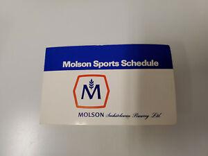 RS20 Saskatoon Blades 1978/79 Minor Hockey Pocket Schedule - Molson