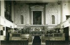 REAL PHOTOGRAPHIC POSTCARD ST. THOMAS CHURCH INTERIOR, STOCKPORT, CHESHIRE