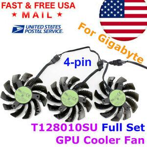T128010SU GPU Cooling Fan 75mm 4PIN Gigabyte GTX1050 1060 1070 1080 G1 N960 N970