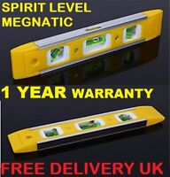 BLACK SPUR MAGNETIC SPIRIT LEVEL 225mm Scasfolder Torpedo Lightweight Brick Line