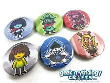 8dbc3a94d Set of 6 Deltarune Pixel Art Pin Button Badges 1.5