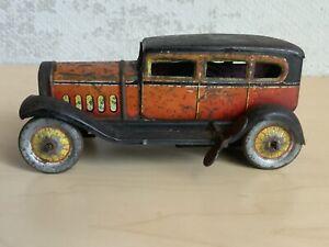 "Vintage Japan wind up tin toy car Lincoln Sedan or touring car 6"""