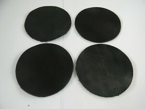 95mm (Coaster Size) Round Black Leather Repair/Craft Patches- Various quantities