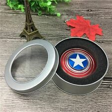 QUALITY MADE ZINC ALLOY METAL ANIME FIDGIT SPINNER CAPTAIN AMERICA NEW PACKAGE