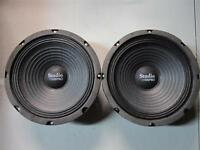"NEW (2) 8"" Woofer Speakers.Guitar.Pro Audio Replacment Pair.8ohm.PA.eight inch"