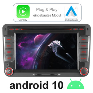 Android 10 Autoradio GPS CD Navi für VW GOLF 5 6 Plus TOURAN Tiguan Skoda Polo